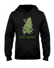 Cannabis Bee Happy Shirt Hooded Sweatshirt thumbnail