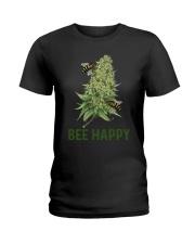 Cannabis Bee Happy Shirt Ladies T-Shirt thumbnail