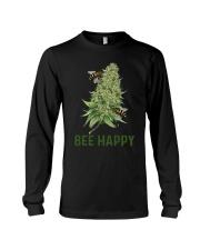 Cannabis Bee Happy Shirt Long Sleeve Tee thumbnail