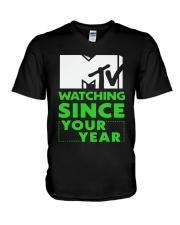 Mtv Watching Since Your Year Shirt V-Neck T-Shirt thumbnail