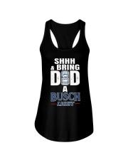 Shhh And Bring Dad A Busch Light Shirt Ladies Flowy Tank thumbnail
