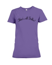 Anthony Davis That's All Folks shirt Premium Fit Ladies Tee tile