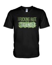 I Fucking Hate Coriander Shirt V-Neck T-Shirt thumbnail