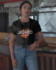Cincinnati Football Johio Welcomes You Shirt Classic T-Shirt apparel-classic-tshirt-lifestyle-05