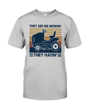 Vintage They See Me Mowin' They Hatin' Shirt Classic T-Shirt tile