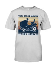 Vintage They See Me Mowin' They Hatin' Shirt Premium Fit Mens Tee thumbnail