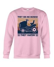 Vintage They See Me Mowin' They Hatin' Shirt Crewneck Sweatshirt thumbnail