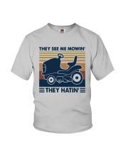 Vintage They See Me Mowin' They Hatin' Shirt Youth T-Shirt thumbnail