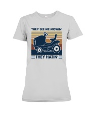 Vintage They See Me Mowin' They Hatin' Shirt Premium Fit Ladies Tee thumbnail