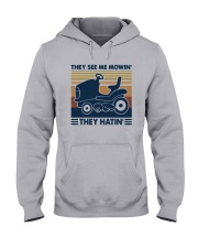 Vintage They See Me Mowin' They Hatin' Shirt Hooded Sweatshirt thumbnail