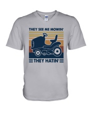 Vintage They See Me Mowin' They Hatin' Shirt V-Neck T-Shirt thumbnail