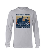 Vintage They See Me Mowin' They Hatin' Shirt Long Sleeve Tee thumbnail