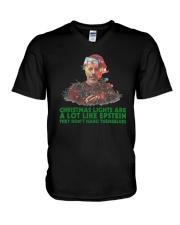 Christmas Lights  A Lot Like Epstein Hang Shirt V-Neck T-Shirt thumbnail