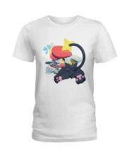 Gingy K Fox Tripped Up Kitty Shirt Ladies T-Shirt thumbnail