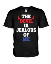 The Devil Is Jealous Of Me T Shirt V-Neck T-Shirt thumbnail