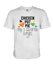Chicken Pot Pie My 3 Favorite Things Shirt V-Neck T-Shirt thumbnail