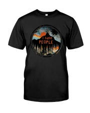 Sunset Forest I Hate People Shirt Classic T-Shirt front