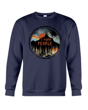 Sunset Forest I Hate People Shirt Crewneck Sweatshirt thumbnail