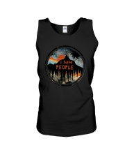 Sunset Forest I Hate People Shirt Unisex Tank thumbnail
