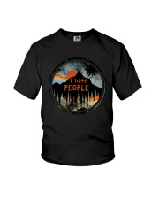 Sunset Forest I Hate People Shirt Youth T-Shirt thumbnail