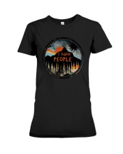Sunset Forest I Hate People Shirt Premium Fit Ladies Tee thumbnail