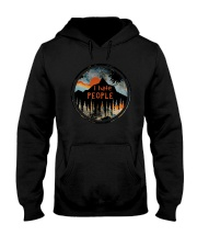 Sunset Forest I Hate People Shirt Hooded Sweatshirt thumbnail
