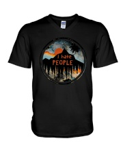 Sunset Forest I Hate People Shirt V-Neck T-Shirt thumbnail