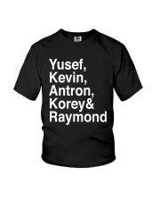 Yusef Kevin Antron Korey and Raymond Shirt Youth T-Shirt thumbnail