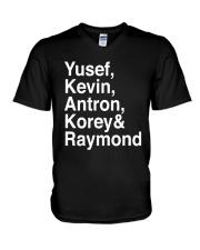 Yusef Kevin Antron Korey and Raymond Shirt V-Neck T-Shirt thumbnail