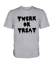 Halloween Twerk Or Treat Shirt V-Neck T-Shirt thumbnail
