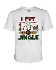 I Put Jiiiing In Jingle Shirt V-Neck T-Shirt thumbnail