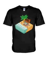 Tom Nook Hawaiian Shirt V-Neck T-Shirt thumbnail