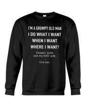 I'm A Grumpy Old Man Except Ask My May Wife Shirt Crewneck Sweatshirt thumbnail