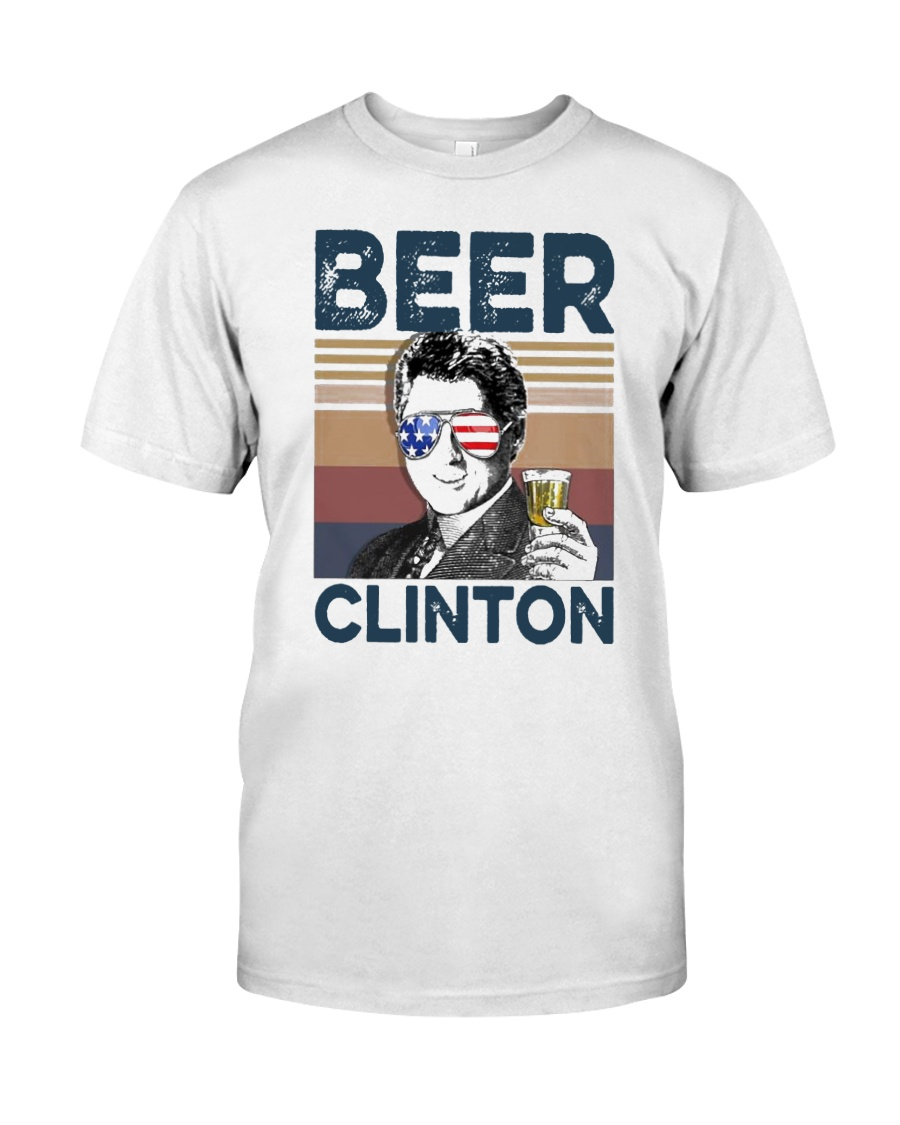 Vintage Drinking Beer Clinton Shirt Classic T-Shirt