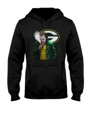 Green Bay Packers Joker Smoking Shirt Hooded Sweatshirt thumbnail