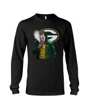 Green Bay Packers Joker Smoking Shirt Long Sleeve Tee thumbnail