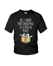 All I Want For Christmas Is A Poo In Peace Shirt Youth T-Shirt thumbnail