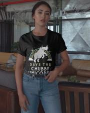 Rainbow Save The Chubby Unicorns Shirt Classic T-Shirt apparel-classic-tshirt-lifestyle-05