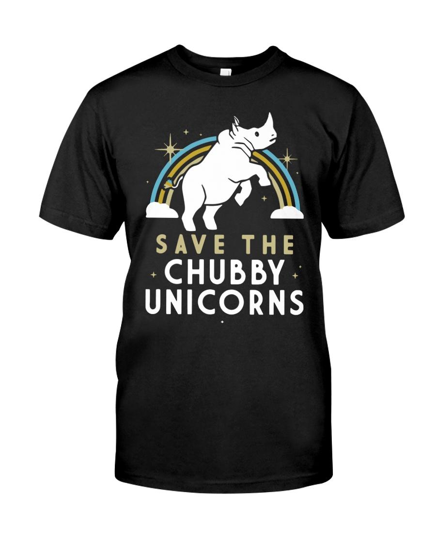 Rainbow Save The Chubby Unicorns Shirt Classic T-Shirt