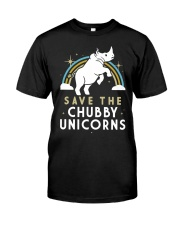 Rainbow Save The Chubby Unicorns Shirt Classic T-Shirt front