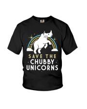 Rainbow Save The Chubby Unicorns Shirt Youth T-Shirt thumbnail
