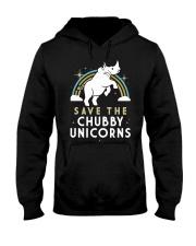 Rainbow Save The Chubby Unicorns Shirt Hooded Sweatshirt thumbnail