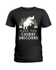 Rainbow Save The Chubby Unicorns Shirt Ladies T-Shirt thumbnail