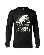 Rainbow Save The Chubby Unicorns Shirt Long Sleeve Tee thumbnail