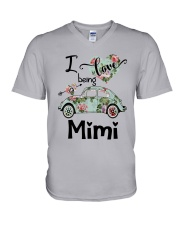 Flower Truck I Love Being Mimi Shirt V-Neck T-Shirt thumbnail