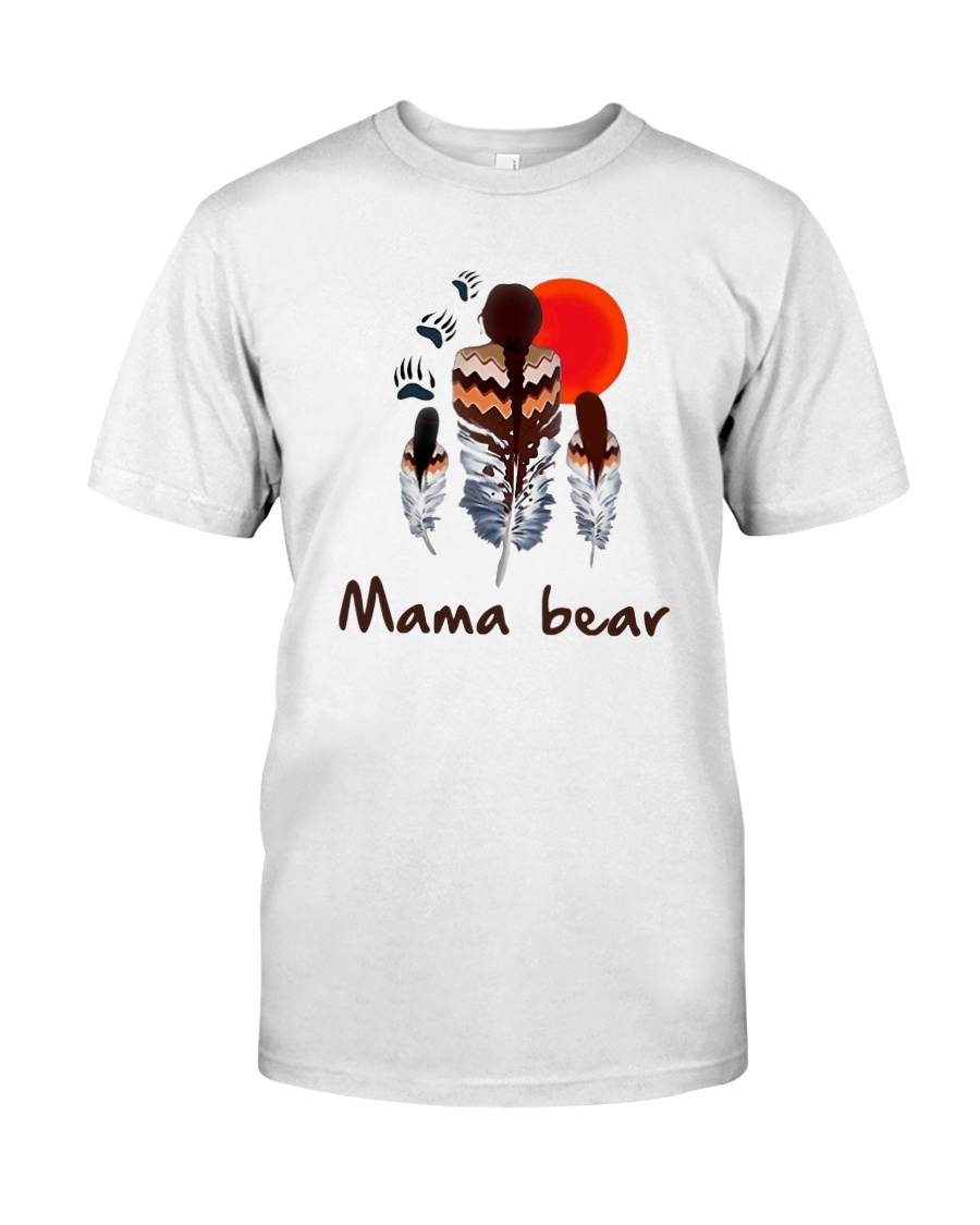 Native Feather Mama Bear Shirt Classic T-Shirt