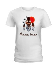 Native Feather Mama Bear Shirt Ladies T-Shirt thumbnail