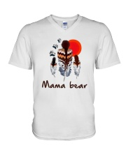 Native Feather Mama Bear Shirt V-Neck T-Shirt thumbnail