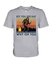 Vintage Bigfoot Eff You See Kay Why Oh You I Shirt V-Neck T-Shirt thumbnail
