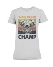 Vintage Wine Pong Champ Shirt Premium Fit Ladies Tee thumbnail